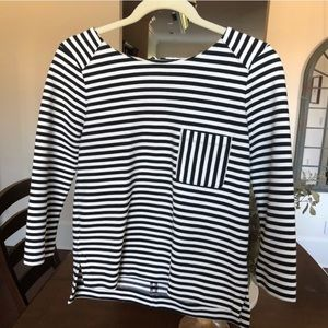 Black and White Stripped Madewell Top